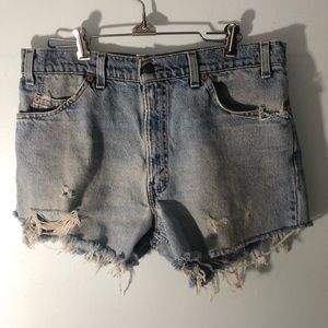 Vintage Levi's Naturally Distressed Cut Off Shorts